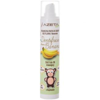 Azeta Bio, organiczna pasta do zębów dla dzieci, 0-36 miesięcy, bez fluoru, bananowa, 50 ml - zdjęcie produktu