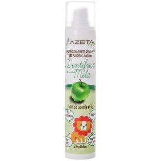 Azeta Bio, organiczna pasta do zębów dla dzieci, 0-36 miesięcy, bez fluoru, jabłkowa, 50 ml - zdjęcie produktu
