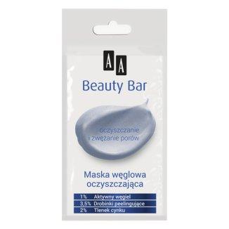 AA Beauty Bar, maska węglowa, oczyszczająca, 8 ml - zdjęcie produktu