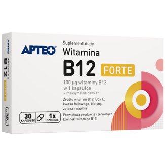 Apteo Witamina B12 Forte, 30 kapsułek  - zdjęcie produktu
