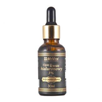 MyVita, czysty kwas hialuronowy 3%, trójcząsteczkowy, 30 ml - zdjęcie produktu