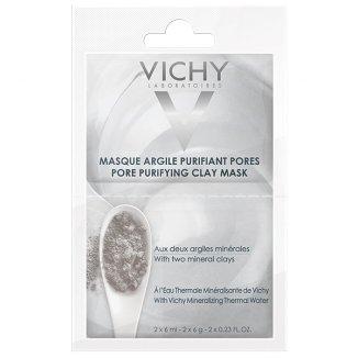 Vichy, maska oczyszczająca pory z glinką, 2 x 6 ml - zdjęcie produktu