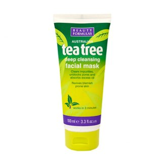 Beauty Formulas Tea tree, maska oczyszczająca na bazie glinki, 100 ml - zdjęcie produktu