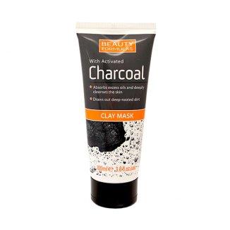 Beauty Formulas Charcoal, maska oczyszczająca, glinka z aktywnym węglem, 100 ml - zdjęcie produktu