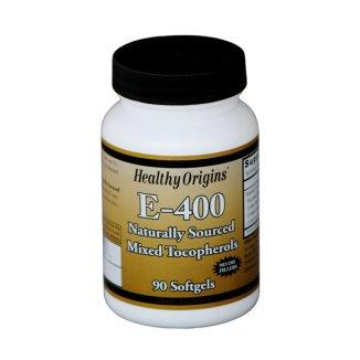 Healthy Origins, Witamina E 400 IU, 90 kapsułek - zdjęcie produktu