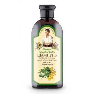 Babuszka Agafia, szampon do włosów, miód i lipa, 350 ml - zdjęcie produktu