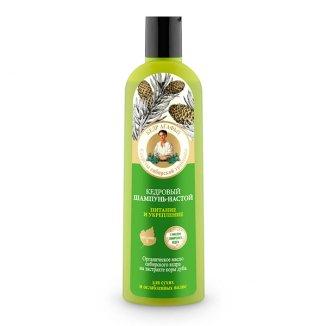 Babuszka Agafia, szampon do włosów odżywczo-wzmacniający, cedrowy, 280 ml - zdjęcie produktu