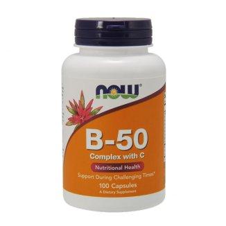 Now Foods B-50, kompleks witamin B, 100 tabletek - zdjęcie produktu