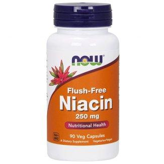 Now Foods Flush-Free Niacin, niacyna 250 mg, 90 kapsułek - zdjęcie produktu
