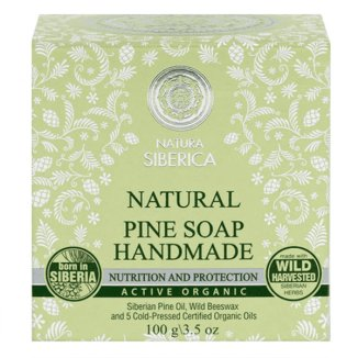 Natura Siberica, naturalne mydło sosnowe, odżywianie i ochrona, 100 g - zdjęcie produktu