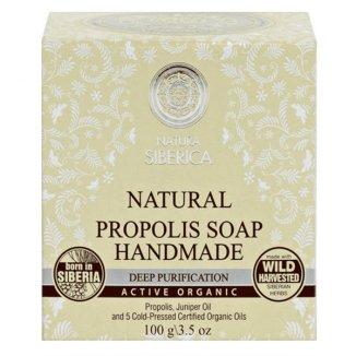 Natura Siberica, naturalne mydło propolisowe, głębokie oczyszczenie, 100 g - zdjęcie produktu