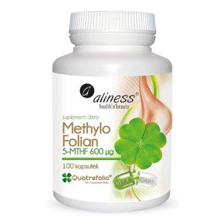 Aliness Methylo Folian 5-MTHF 600 µg, kwas foliowy, 100 kapsułek - zdjęcie produktu