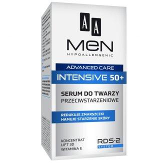 AA Men Intensive 50 +, serum do twarzy przeciwstarzeniowe, 50 ml - zdjęcie produktu
