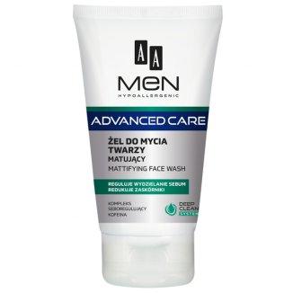 AA Men Advanced Care, żel matujący do mycia twarzy, 150 ml - zdjęcie produktu