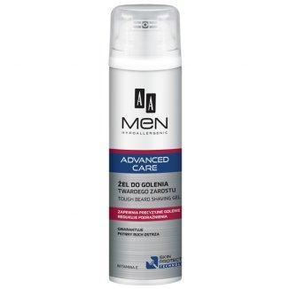 AA Men Advanced Care, żel do golenia twardego zarostu, 200 ml - zdjęcie produktu