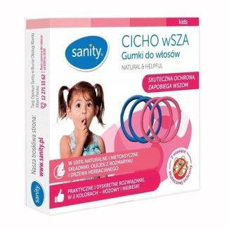 Sanity Cicho wSZA, gumki do włosów, 4 sztuki KRÓTKA DATA - zdjęcie produktu