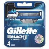 Gillette Mach 3 Turbo, wkłady wymienne, 4 sztuki - miniaturka zdjęcia produktu