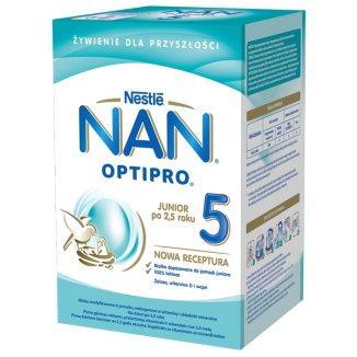 Nestle NAN Optipro 5, mleko modyfikowane Junior dla dzieci po 2,5 roku, 800 g - zdjęcie produktu