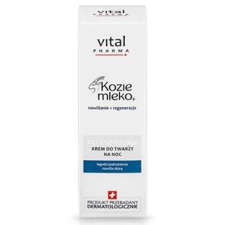 Vital Pharma Kozie Mleko, krem do twarzy, regenerujący, na noc, 50 ml - zdjęcie produktu