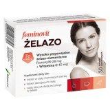 Feminovit Żelazo, 30 tabletek - miniaturka zdjęcia produktu
