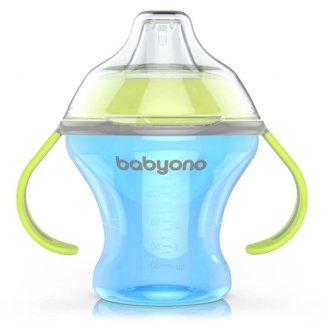 BabyOno Natural Nursing, kubek niekapek z miękkim ustnikiem, od 3 miesiąca, 180 ml - zdjęcie produktu