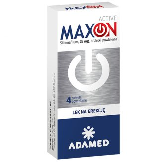 MaxON Active 25 mg, 4 tabletki powlekane - zdjęcie produktu