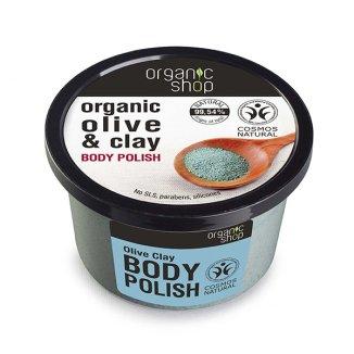 ORGANIC SHOP, pasta do ciała, oliwka i glinka, 250 ml - zdjęcie produktu