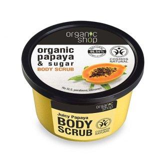 ORGANIC SHOP, scrub do ciała, papaja i cukier, 250 ml - zdjęcie produktu