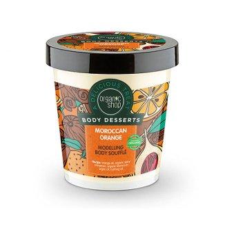 Organic Shop Body Desserts, modelujący mus suflet do ciała, Marokańska Pomarańcza, 450 ml - zdjęcie produktu
