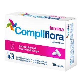 Compliflora Femina, 10 kapsułek - zdjęcie produktu
