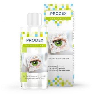 Prodex Sensitive, płyn dwufazowy do oczyszczania skóry twarzy i okolic oczu, skóra wrażliwa i bardzo wrażliwa, 150 ml - zdjęcie produktu