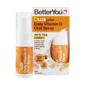 Better You Dlux, witamina D Junior w sprayu, 15 ml - zdjęcie produktu