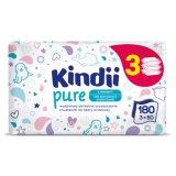 Cleanic Kindii, Pure, chusteczki nawilżane dla noworodków i niemowląt, 3 x 60 sztuk - miniaturka zdjęcia produktu