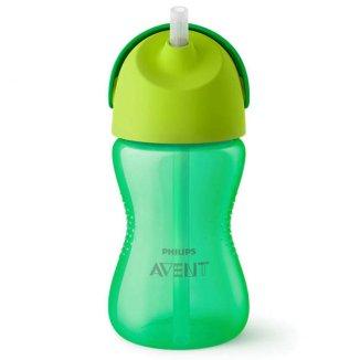 Avent, kubek ze słomką, zielony, SCF798/01, od 12 miesiąca, 300 ml - zdjęcie produktu