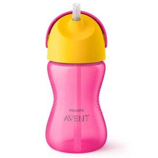 Avent, kubek ze słomką, różowy, SCF798/02, od 12 miesiąca, 300 ml - zdjęcie produktu