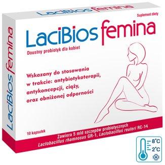 LaciBios Femina, 10 kapsułek - zdjęcie produktu