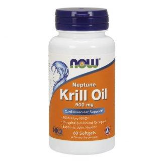 Now Foods, Krill Oil Neptune, 60 kapsułek - zdjęcie produktu