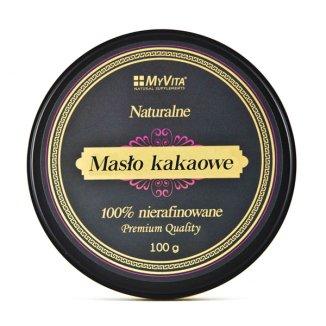 MyVita, naturalne masło kakaowe 100% nierafinowane, 100 g - zdjęcie produktu
