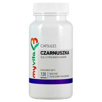 MyVita Czarnuszka, olej z polskich nasion 500 mg, 120 kapsułek - zdjęcie produktu