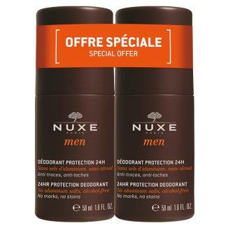 Nuxe Men, dezodorant zapewniający całodobową ochronę, roll-on, 2 x 50 ml - zdjęcie produktu