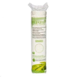 Płatki kosmetyczne Masmi, z organicznej bawełny, okrągłe, 80 sztuk - zdjęcie produktu