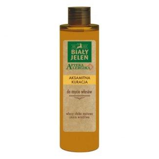 Biały Jeleń Apteka Alergika, aksamitna kuracja do mycia włosów, 150 ml - zdjęcie produktu