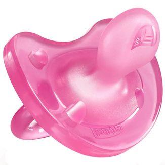 Chicco, smoczek uspokajający, silikonowy, Physio Soft, od urodzenia, różowy, 1 sztuka - zdjęcie produktu