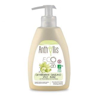 Anthyllis EcoBio, płyn do mycia rąk i twarzy z fitokompleksem z czerwonych winogron, 300 ml - zdjęcie produktu
