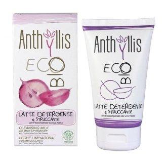 Anthyllis EcoBio, oczyszczające mleczko do demakijażu z fitokompleksem z czerwonych winogron, 150 ml - zdjęcie produktu