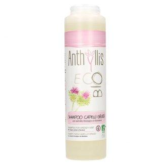 Anthyllis EcoBio, szampon do włosów przetłuszczających się i z łupieżem, wyciąg z łopianu, 250 ml - zdjęcie produktu