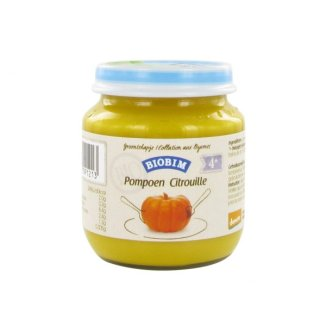 Biobim Obiadek warzywny ekologiczny Bio, puree z dyni, po 4 miesiącu, 125 g - zdjęcie produktu