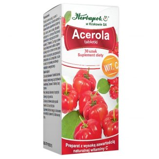 Acerola, 30 tabletek - zdjęcie produktu