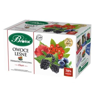 Bi Fix, Classic Owoce leśne, herbatka, 25 saszetek - zdjęcie produktu