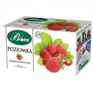 Bi Fix Classic, Poziomka, herbatka owocowa, 2,5 g x 20 saszetek - zdjęcie produktu